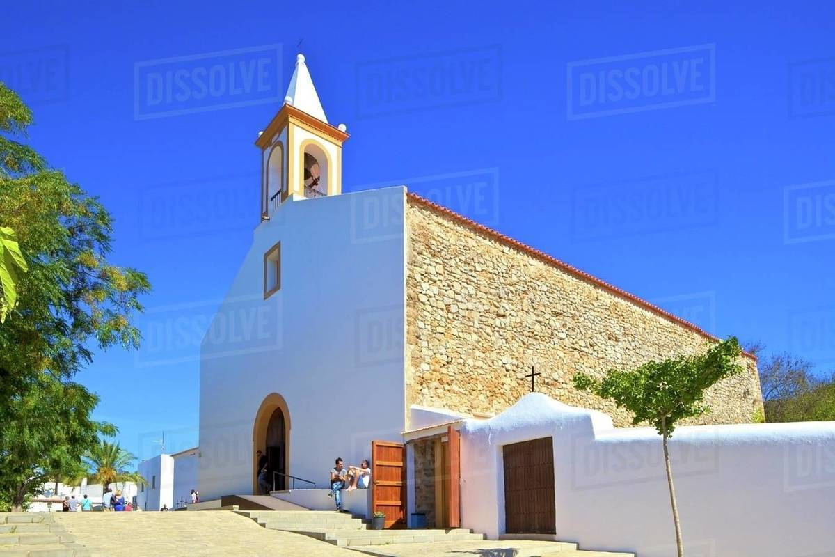 Sant Joan de Labritja Church, Ibiza, Balearic Islands, Spain, Mediterranean, Europe Royalty-free stock photo