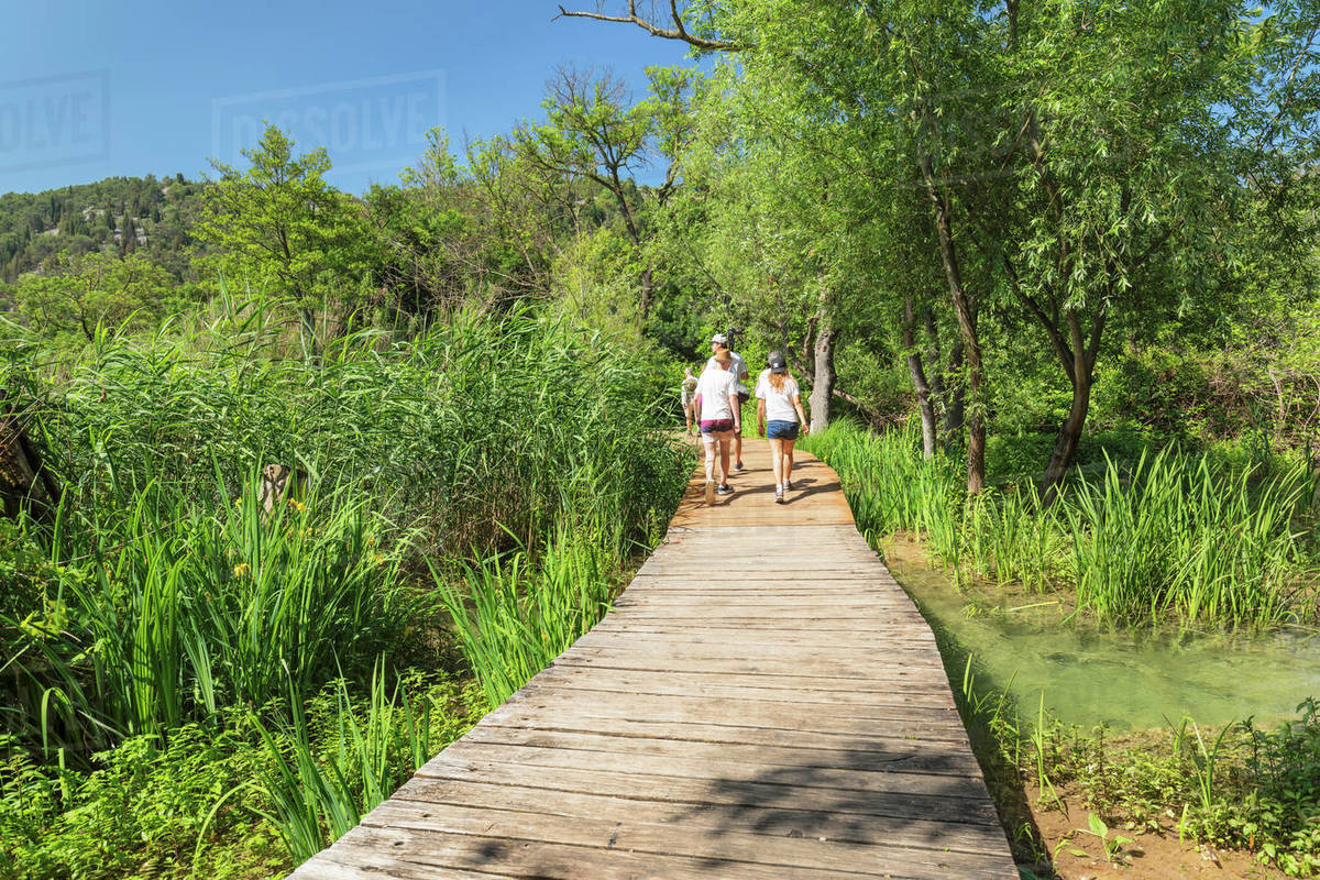 Path through Krka National Park, Dalmatia, Croatia, Europe Royalty-free stock photo