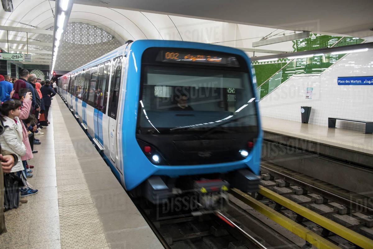 Metro of Algiers, Algeria, North Africa, Africa Royalty-free stock photo