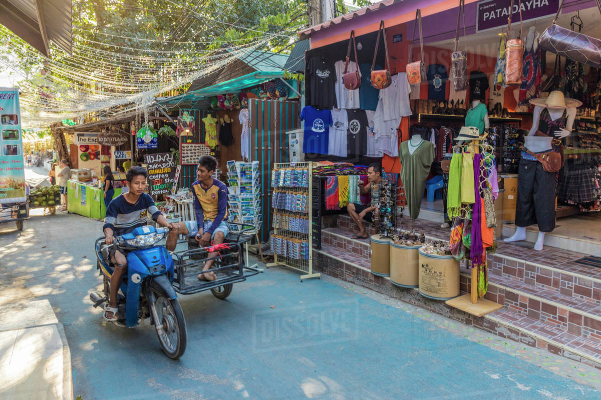 A street scene in Ko Lipe, Tarutao National Marine Park, Thailand, Southeast Asia, Asia Royalty-free stock photo