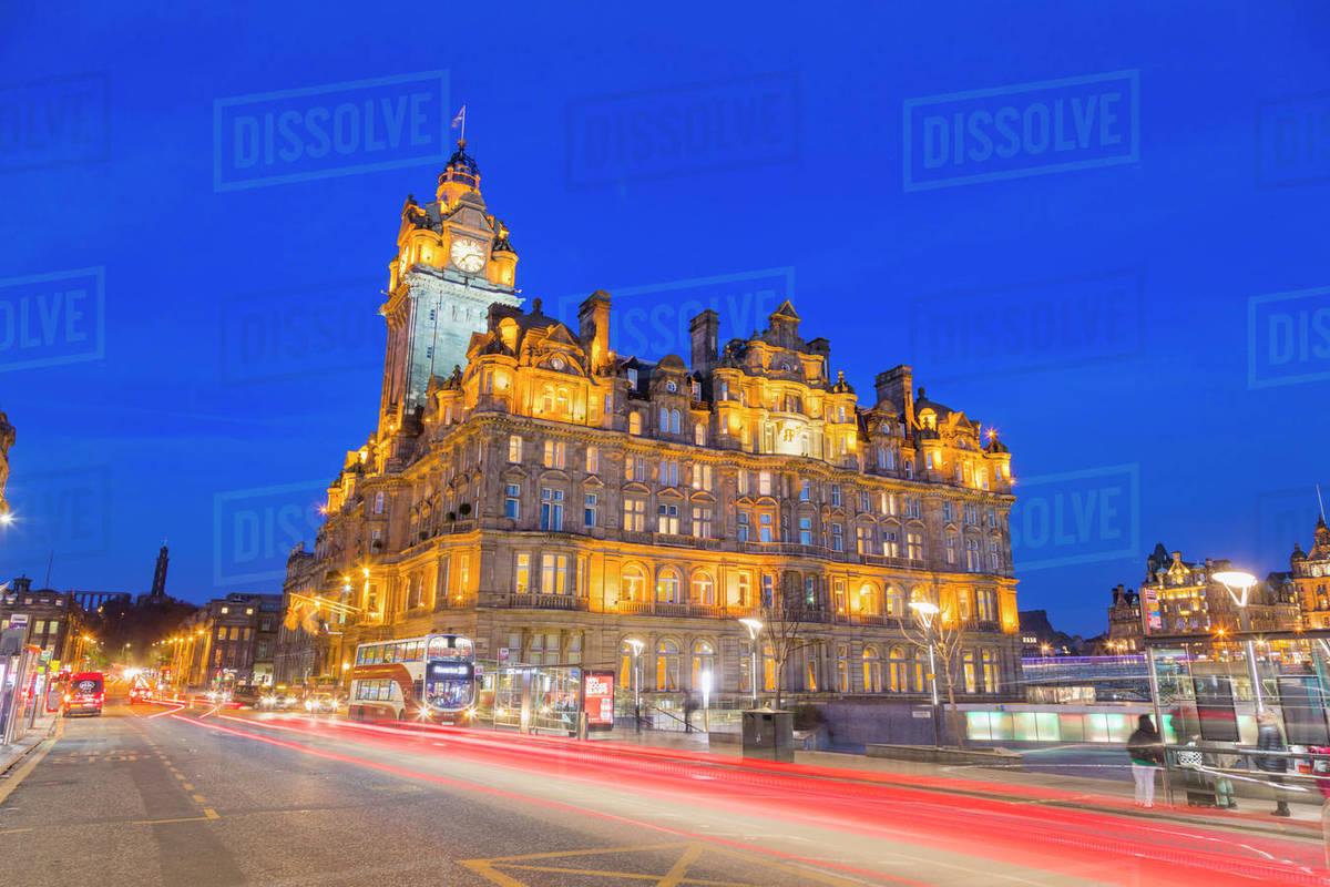 Balmoral Hotel, Princes Street, UNESCO World Heritage Site, Edinburgh, Scotland, United Kingdom, Europe Royalty-free stock photo