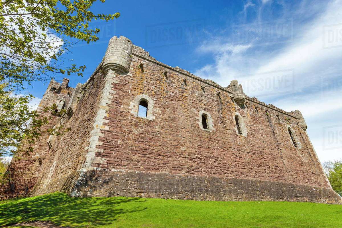 Doune Castle, Stirling district, Scotland, United Kingdom, Europe Royalty-free stock photo
