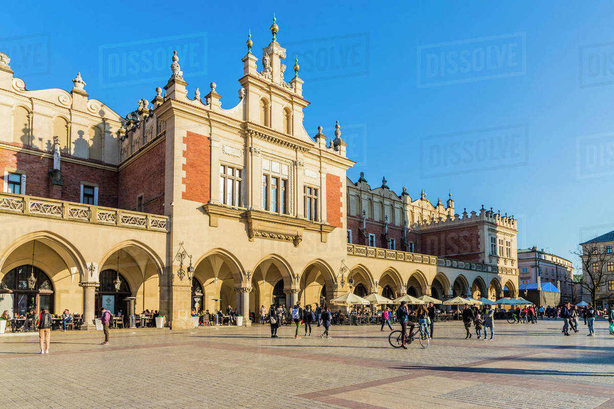 Cloth Hall in the main square, Rynek Glowny, in the medieval old town, UNESCO World Heritage Site, Krakow, Poland, Europe Rights-managed stock photo