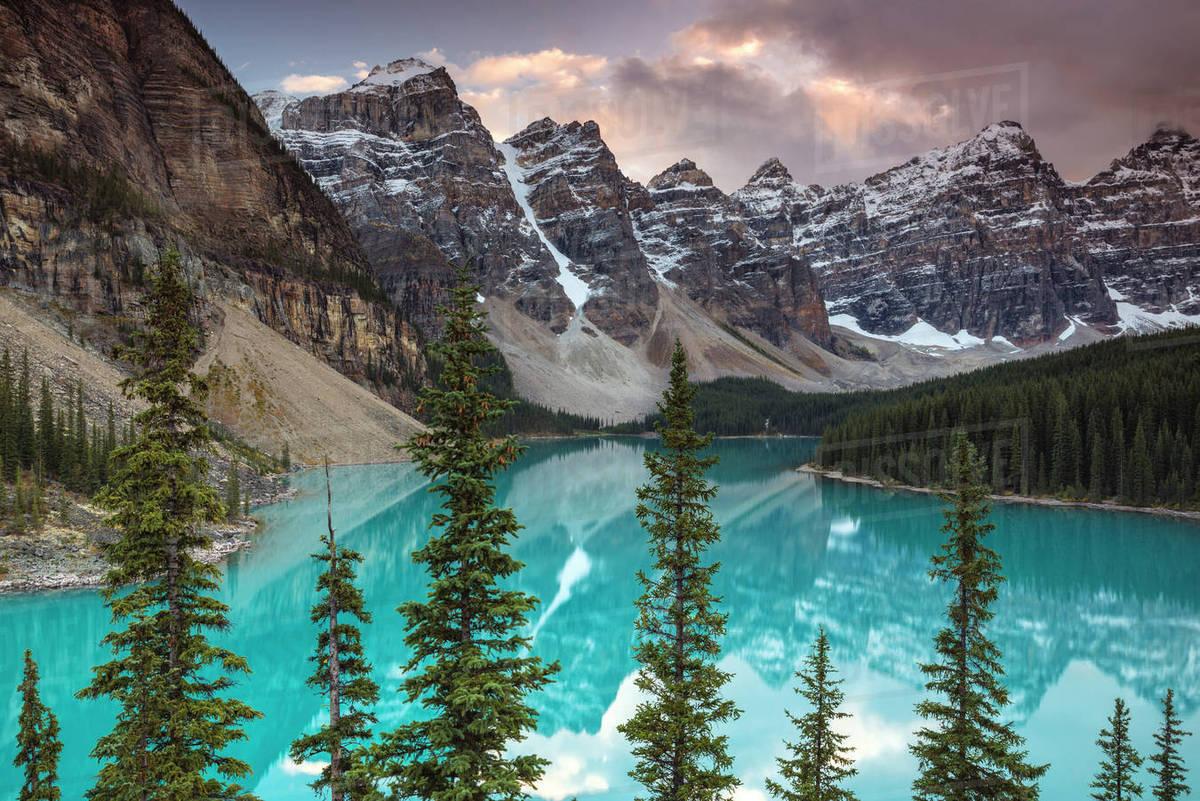 Sunset At Moraine Lake Banff National Park Unesco World Heritage D246 50 443