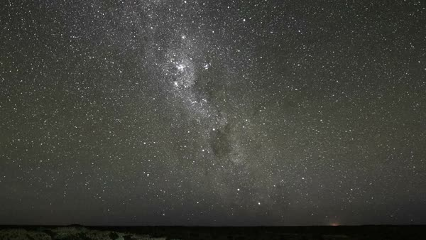 Milky Way night sky star timelapse from desert Royalty-free stock video