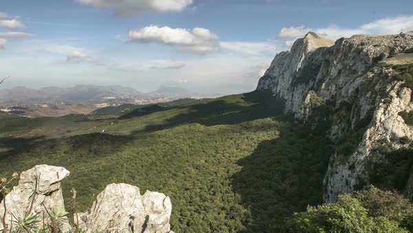 Timelapse of mountain range in Sicily Royalty-free stock video