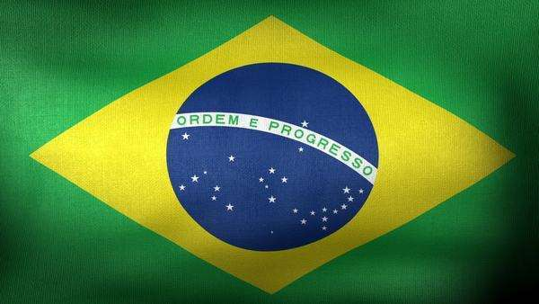 Brazilian Flag waving as animation background Royalty-free stock video