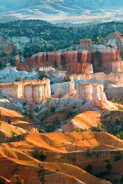 USA, Utah. Hoodoo formations in Bryce Canyon National Park. Royalty-free stock photo