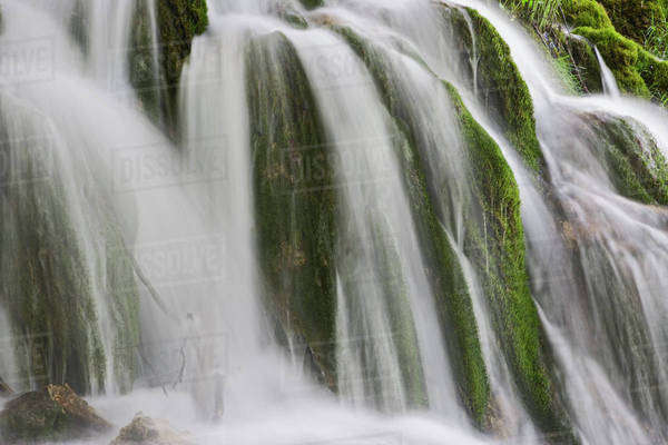 Milanovacki Slap (Waterfall) Plitvice National Park, Croatia Royalty-free stock photo