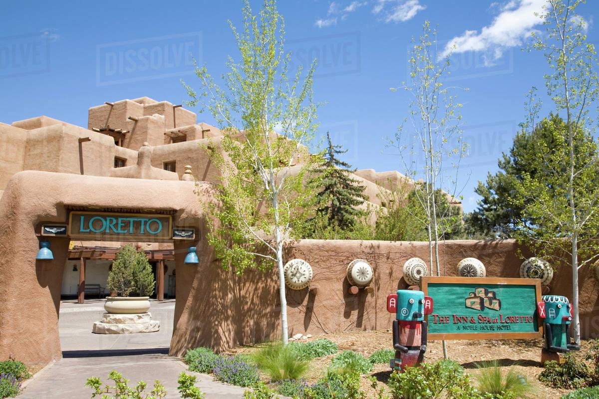 Nm New Mexico Santa Fe The Inn Spa At Loretto Stock Photo