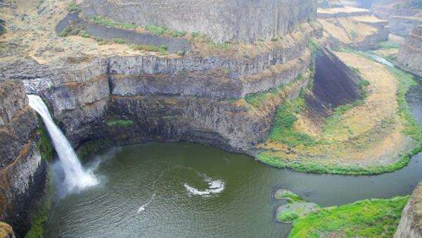 200 Foot High Palouse Falls State Park In Washington Rights Managed Stock Video