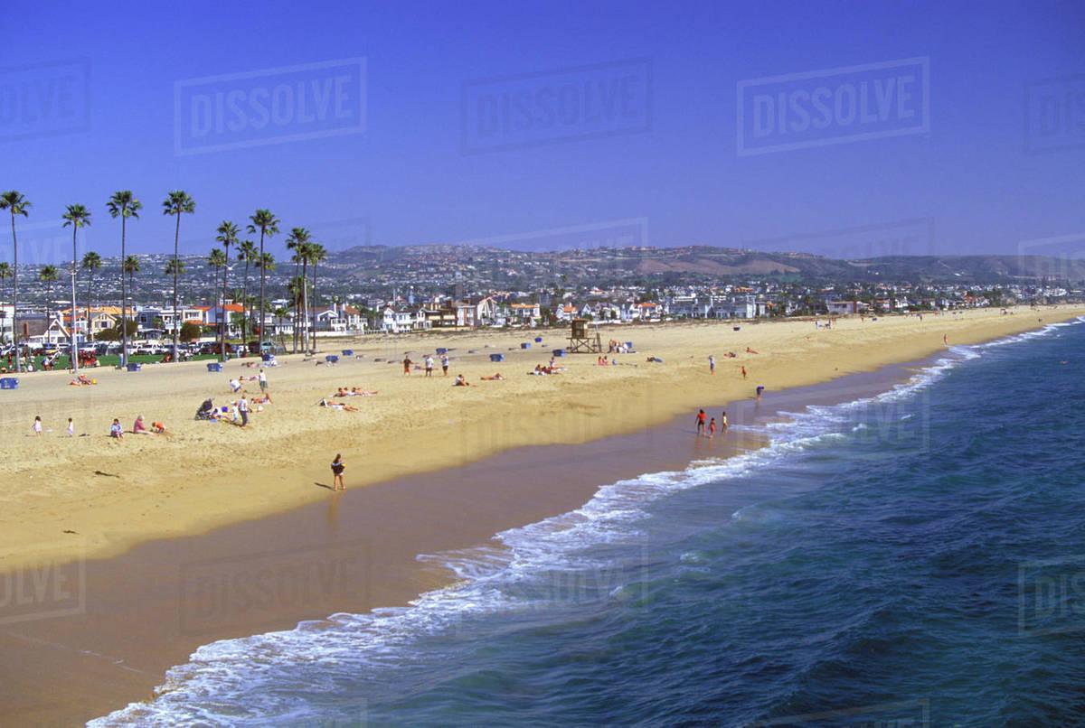 Surf Balboa Peninsula Newport Beach California Usa