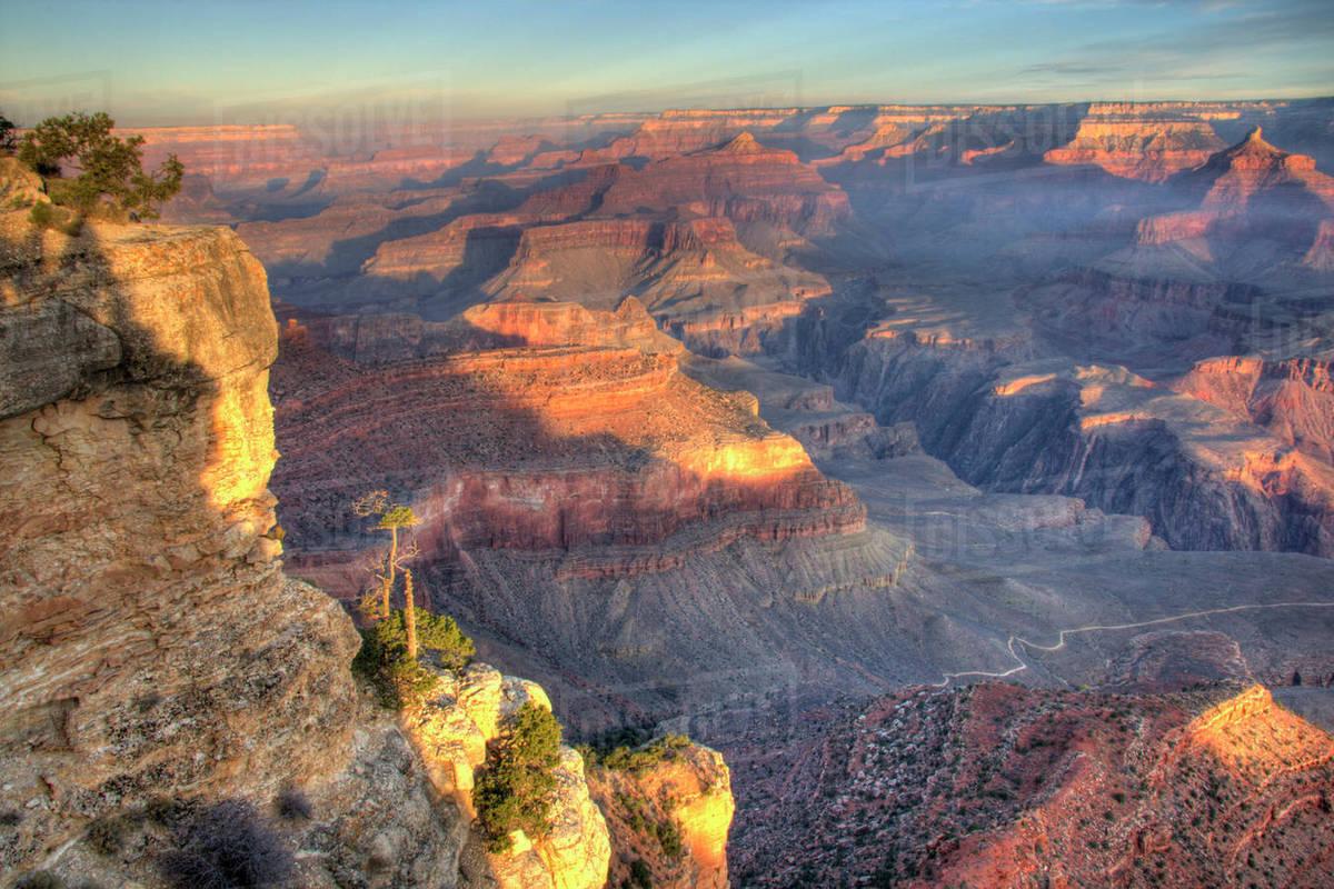 Az Arizona Grand Canyon National Park South Rim Sunrise At D256 38 973
