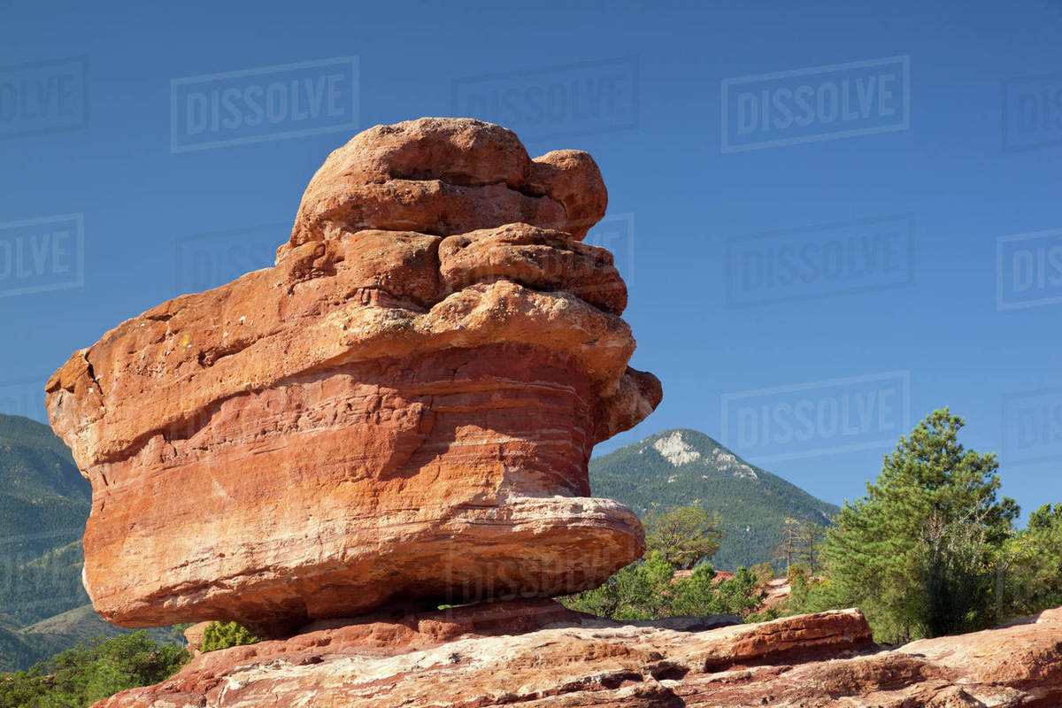 Usa Colorado Colorado Springs Garden Of The Gods Balanced Rock D256 40 193