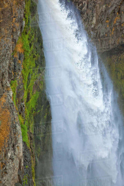 200 Foot High Palouse Falls State Park In Washington Rights Managed Stock Photo