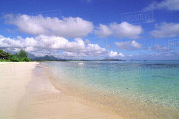 Waimanalo Beach, Oahu, Hawaii, USA Rights-managed stock photo