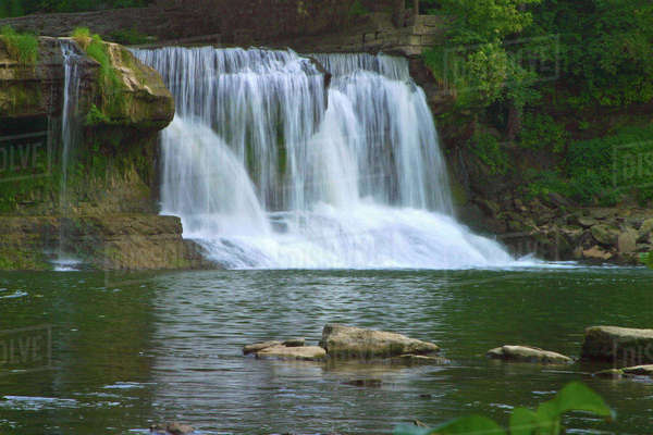 USA, Indiana, Cataract Falls/ Cagels Mill State Park Rights-managed stock photo