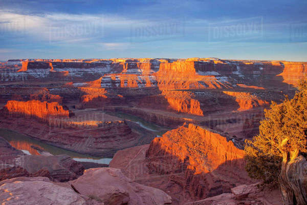 USA, Utah, Moab, Dead Horse Point Plateau. Rights-managed stock photo