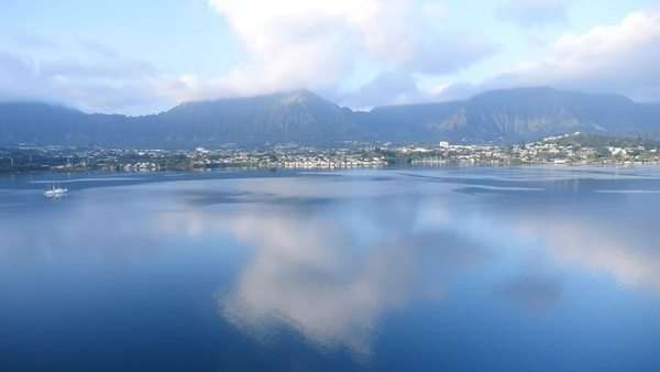 Kaneohe Bay, Oahu, Hawaii Rights-managed stock video