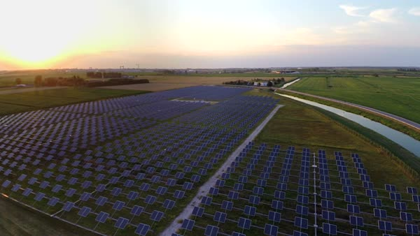 WS AERIAL Fields of solar panels Royalty-free stock video