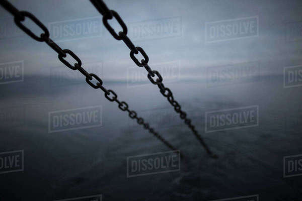 Anchor chains, Isle of Skye, Scotland Royalty-free stock photo