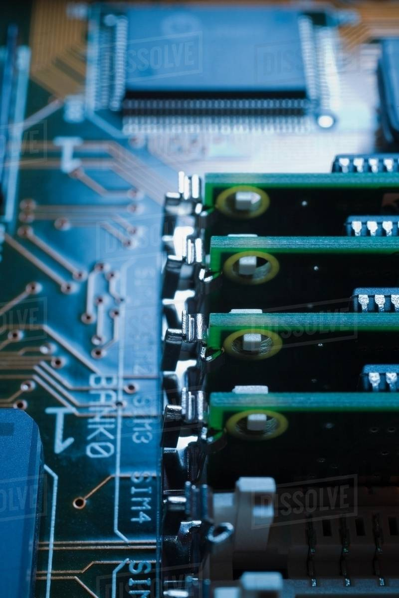 Circuit Board Close Up Stock Photo Dissolve Computer With Electronics Components Royalty Free