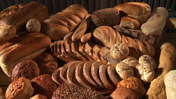 Various types of bread and bread rolls Royalty-free stock video