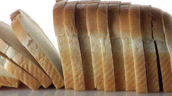 A loaf of sliced white bread Royalty-free stock video