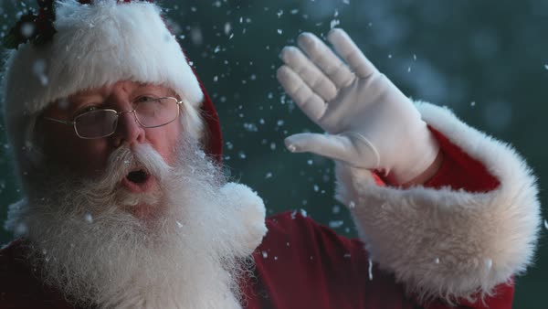 Santa Claus waving in slow motion Royalty-free stock video