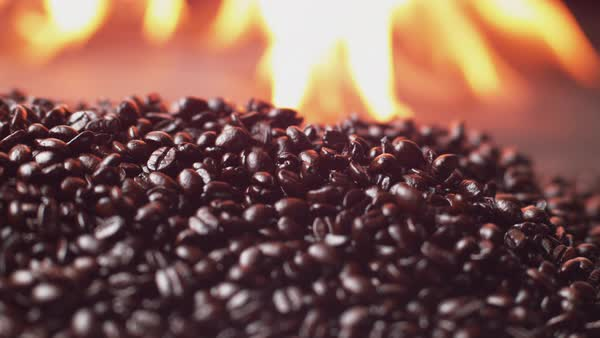 Coffee beans roasting in super slow motion Royalty-free stock video