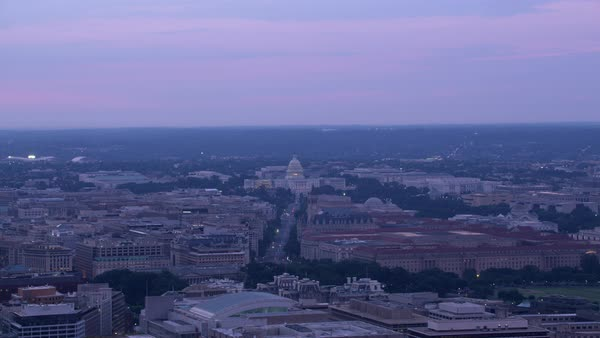 Aerial view of Capitol building from Pennsylvania Avenue.   Royalty-free stock video