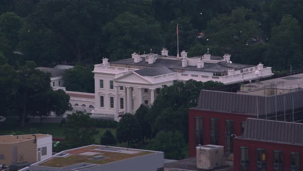 Aerial view of the White House.   Royalty-free stock video