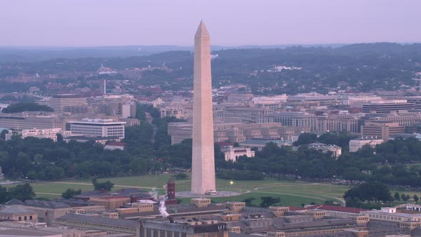 Aerial view of the Washington Monument.   Royalty-free stock video
