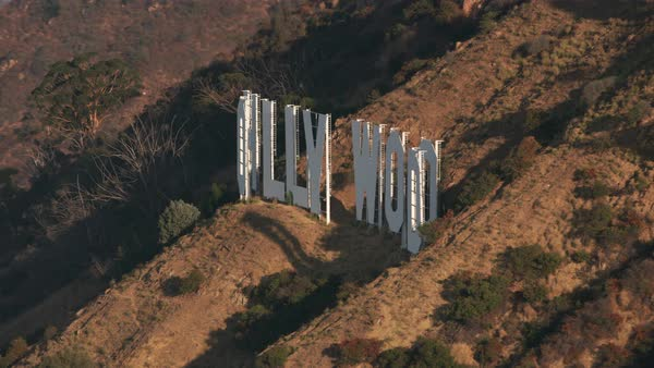 Aerial view of Hollywood sign.   Royalty-free stock video