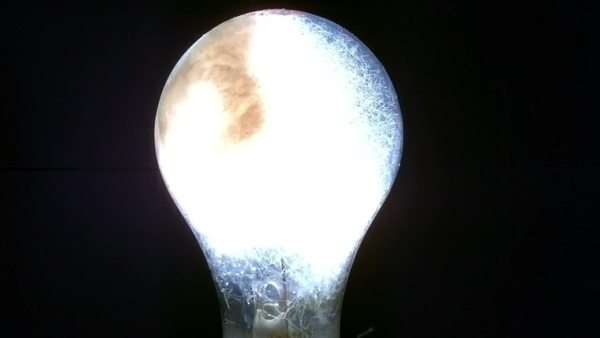 Closeup of flashbulb in super slow motion. Shot with Phantom camera at 6900 frames per second. Royalty-free stock video