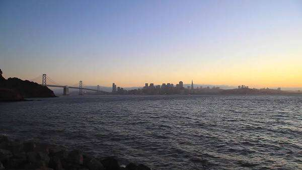 San Francisco and Bay Bridge Royalty-free stock video