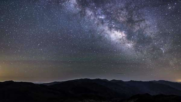 MilkyWay from Dantes View in Death Valley California Royalty-free stock video