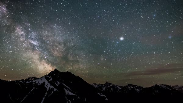 Milky Way timelapse from the top of Mount Baldy in Kananskis Alberta Canada Royalty-free stock video