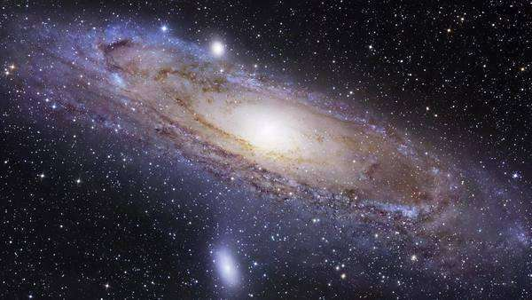 Andromeda galaxy (M31), optical image. Rights-managed stock video