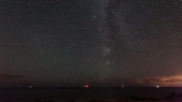 The Milky Way passing above the south horizon in the night sky Rights-managed stock video