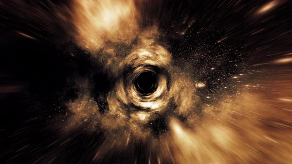 Wormhole straight through space, clouds, and millions of stars. Royalty-free stock video