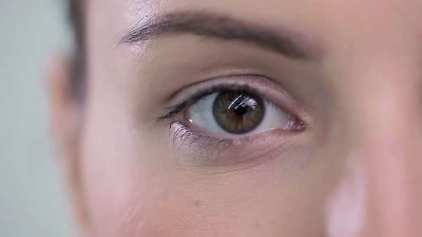 Female eye in close-up. Royalty-free stock video