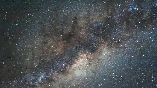 Static generic timelapse of the Milky Way shot from the Southern Hemisphere Royalty-free stock video