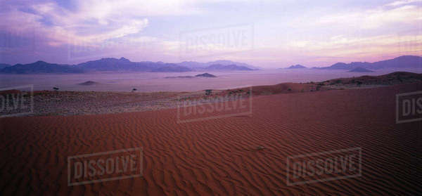 Overview Landscape and Desert Naukluft Park Sossusvlei, Namibia, Africa Rights-managed stock photo