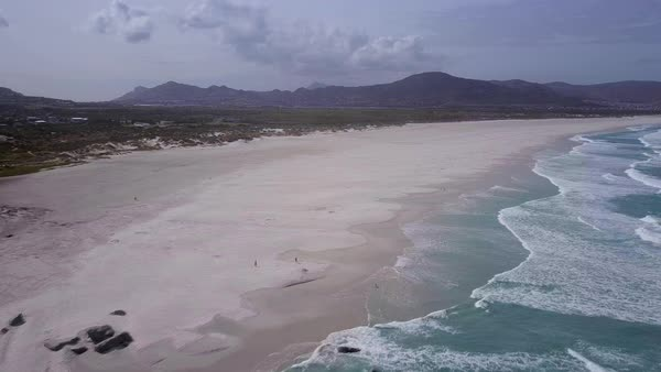 Aerial shot of a beach Royalty-free stock video