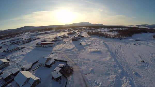 Omnykon, a town in Sibera which is thought to be the coldest on earth. Royalty-free stock video