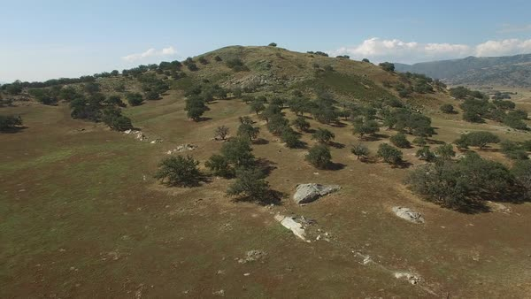 Aerial over a mountaintop in San Diego County. Royalty-free stock video