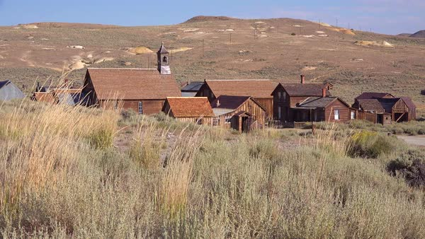 Establishing shot of the abandoned ghost town of Bodie, California. Royalty-free stock video