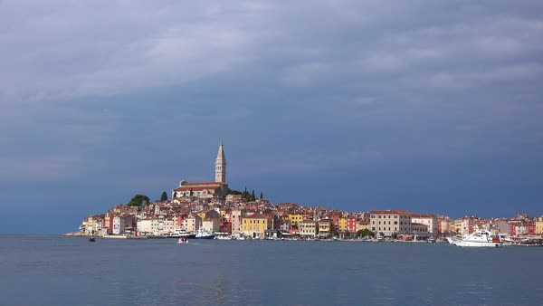 Beautiful shot of the town of Rovinj in Croatia. Royalty-free stock video
