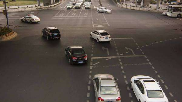 Timelapse of traffic in Shanghai street Royalty-free stock video